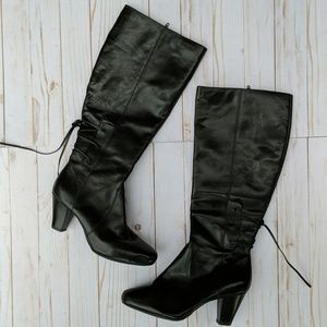 NWOB Clarks lace back knee-high boots